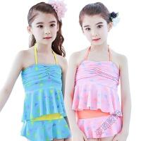 儿童泳衣夏季女孩分体游泳衣中大童女童防晒公主裙式可爱泳装