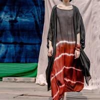 原创夏原创棉麻森女装真丝大码宽松外套桑蚕丝系带防晒衣风衣开衫GH025 黑色 均码
