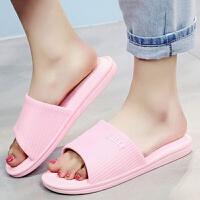 情侣拖鞋女夏季居家室内地板舒适加厚防滑卧室浴室拖鞋凉拖男女款