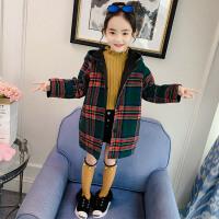 女童呢大衣秋装童装儿童中大童洋气薄款外套秋冬潮衣