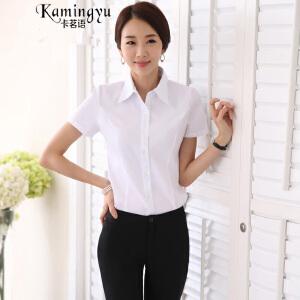 卡茗语 2017春夏季新款韩版修身职业装女套裤裙衬衫短袖办公正装工作服