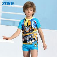 (新品)ZOKE洲克变形金刚儿童泳衣连体平角分体男童游泳衣117503514