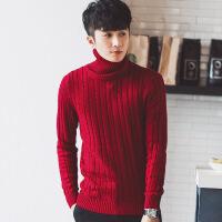 №【2019新款】小伙子穿的秋男士毛衣半高领2018新款韩版男粗线麻花针织衫