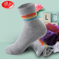 5双装浪莎女袜子纯棉短筒袜防臭透气低帮休闲运动袜薄全棉四季袜