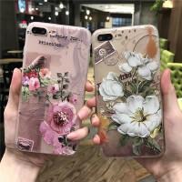 苹果6代手机壳iphone6/6splus保护套浮雕硅胶保护套女款软全包复古大花