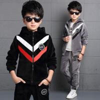 男童运动套装冬装衣服12-15岁