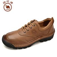 骆驼牌男鞋 秋冬新品 日常休闲皮鞋男士英伦风系带大码潮鞋