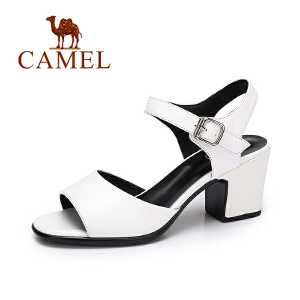 camel骆驼女鞋 夏季新品时尚简约凉鞋女 韩版百搭露趾凉鞋