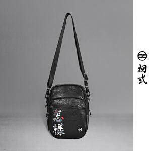 初�q2018新款潮牌复古刺绣怎样斜挎包小包街头男女单肩包42102
