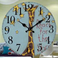 御目 挂钟 儿童卡通静音现代简约可爱卧室客厅挂表创意装饰时钟时尚个性钟表挂件