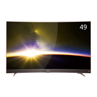 TCL 49P3F 49英寸 曲面30核智能平板液晶电视 超窄金属边框 黄金曲率 玫瑰金