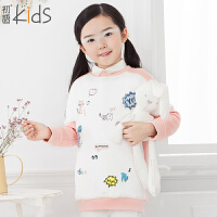 初语童装 冬装新款儿童卫衣套头长袖加绒中大童卫衣T5405210082
