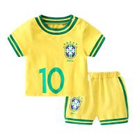 婴儿套装2019新款世界杯足球服夏季男女宝宝球衣两件套儿童夏装