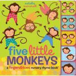 【预订】Five Little Monkeys: A Fingers & Toes Nursery Rhyme Boo