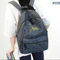 印花双肩包女韩版学院风校园街头休闲书包中学生女旅行包背包简约