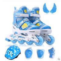 精美可爱图案滑冰鞋直排轮滑鞋成人滑冰鞋可调闪光溜冰鞋儿童全套装旱冰鞋