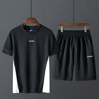 T恤短裤男士运动套装夏季薄款情侣速干健身房跑步服潮流两件套