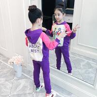 童装套装女童秋装儿童洋气卫衣时髦中大童运动两件套