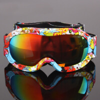 儿童滑雪镜双层防雾偏光男女童球面大视野遮挡强光滑雪眼镜
