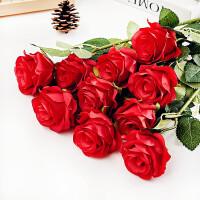 甜梦莱单支假玫瑰花仿真玫瑰花套装绢花塑料花装饰花束餐桌摆设花