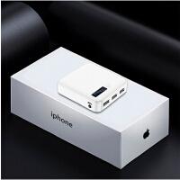 超薄小巧便携迷你vivo充电宝大容量苹果8Xoppo毫安移动电源 月光白标配 3USB