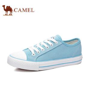 骆驼牌女鞋 新款小白鞋女系带韩版时尚百搭帆布鞋平跟