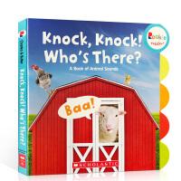 英文原版Rookie Toddler系列 knock knock who's there 敲敲门谁在那儿?儿童启蒙早教