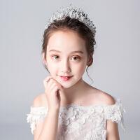 女童六一儿童节演出服发饰皇冠头饰超闪水钻女孩表演头箍韩版水晶