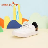 【1件2折后:44.6元】红蜻蜓童鞋女童休闲冬新款男童透气小白鞋大儿童小童板鞋