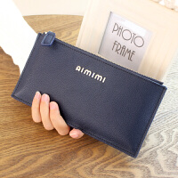 欧美长款皮女士钱包简约软牛皮拉链包手机包新款女式手拿包