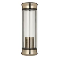 男水杯便携玻璃杯喝水车载随手杯子耐热过滤泡茶杯350ml