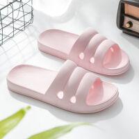 宏秀Q弹家居拖鞋女夏季浴室拖鞋男EVA软橡胶无味环保家用拖鞋无臭