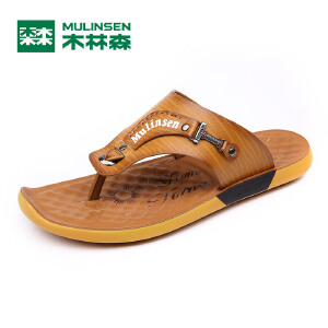 木林森男鞋 夏季新款男士休闲拖鞋 百搭夹脚轻便男沙滩鞋05277802