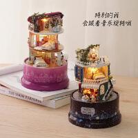 diy手工创意小屋制作小房子艺术别墅拼装模型女玩具生日礼物