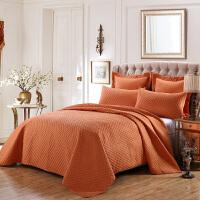 床盖三件套棉床罩绗缝被夹棉床单美式床盖加大单件