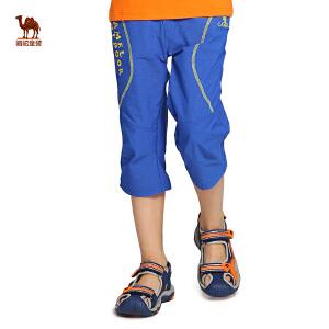 小骆驼童装男童户外七分裤年春夏季新款儿童徒步透气速干裤子