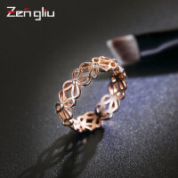 925银戒指女小指尾戒食指环韩国镀18K玫瑰金戒指关节简约对戒饰品