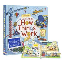 【首页抢券300-100】Usborne Look Inside How things Work 事物运转的秘密 儿童英