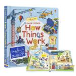 Usborne Look Inside How things Work 事物运转的秘密 儿童英语早教书纸板翻翻书 机关
