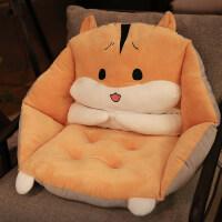 可爱坐垫地上靠垫一体地板垫子日式懒人榻榻米透气椅垫办公室椅子 全包围坐垫(40x40x38cm)