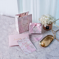 结婚礼盒喜糖盒请帖 结婚喜糖盒子欧式婚庆用品创意喜糖礼盒婚礼手提袋请帖伴手礼套盒 平铺发货