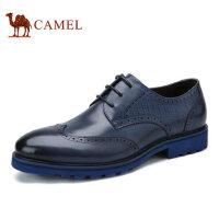 camel 骆驼男鞋夏季布洛克男皮鞋复古英伦雕花商务男鞋