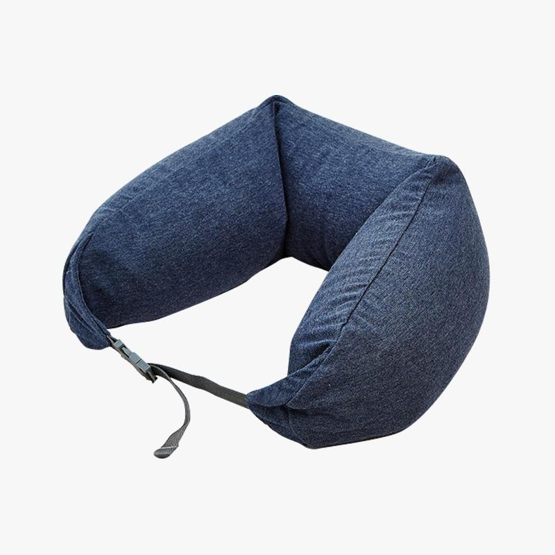 当当优品家纺 纯棉针织U枕 旅行枕午睡颈枕腰枕 深灰当当自营 MUJI制造商代工