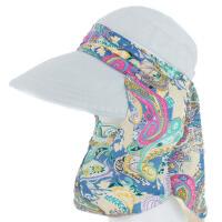 夏天户外遮脸太阳帽子女士遮阳帽防晒折叠大沿沙滩帽