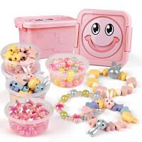 �和�串珠益智穿珠子手工diy制作材料包��手� �品女童玩具