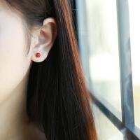 小红豆耳钉女士时尚气质简约个性耳饰学生女饰品