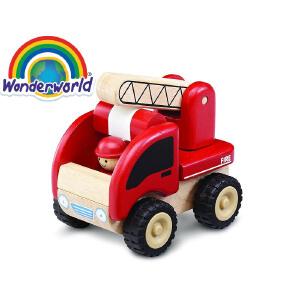 [当当自营]泰国Wonderworld 小小消防车 木质玩具车