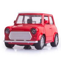 卡通Q版甲壳虫老爷车宝马MINI合金车模型儿童回力玩具车