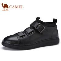 camel 骆驼男鞋2017秋季新品潮流运动滑板鞋日常休闲皮鞋高帮靴