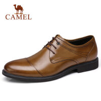 camel 骆驼男鞋英伦时尚轻盈商务正装皮鞋柔软缓震商务休闲皮鞋